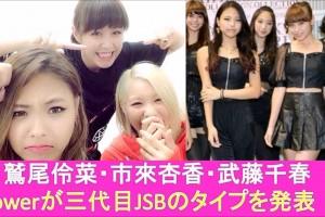 ヤマケン大ショック!?E-girlsメンバーが三代目JSBで好きなタイプを発表!喜ぶNAOKI・がんちゃんに、ヤマケン…Flower鷲尾市來武藤